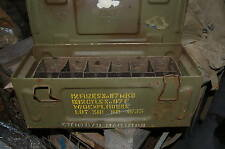 WWII british 25pdr M104 Mk117 fuze ammuntion box  with with tins