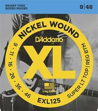 D'Addario EXL125 Electric Guitar Strings 9-46. Professional Quality, Great Price