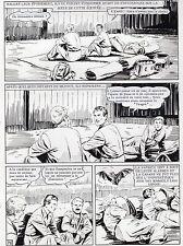 MELLIES : BIGGLES EN AFRIQUE SUPERBE PLANCHE ORIGINALE ARTIMA PAGE 76