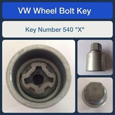 "Genuine VW Locking Wheel Bolt / Nut Key 540 ""X"""