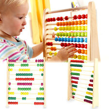 Wooden Maths Counting Abacus Bead Kids Educational Calculating Intellegence Toy