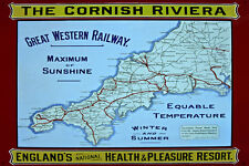The Cornish Riviera Steel & Enamel Display Metal  Sign