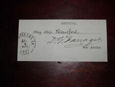 Rear Admiral David Farragut Civil War Cut Signature From U.S.S. Hartford 1862