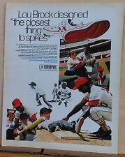 1970 magazine ad for Converse Lou Brock L.T.s - baseball shoe that's a sneaker
