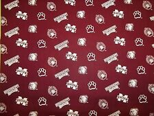 MISSISSIPPI STATE UNIVERSITY BULLDOGS LOGO ALL SPORT  NEW 1/2  YARD 100% COTTON