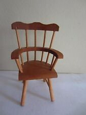 Dollhouse Miniature Shackman Colonial Cherrywood Curved High Back Arm Chair