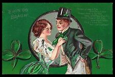 "Victorian Advertising Trade Card. ""ERIN GO BRAGH"", 1910."
