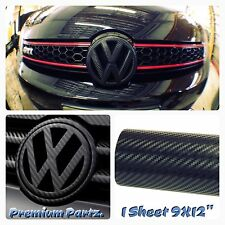 Volkswagen Carbon Fiber Decal Inlays Vinyl 3M New 3D Sheet For Passat Golf VW