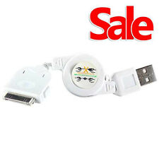 Usb rétractable sync chargeur plomb iPhone 4S 4 3GS iPad iPod blanc