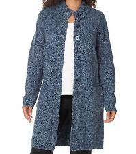 Woman Within Plus Size Navy Sky Blue Sweater Cardigan Size 2X(26/28)