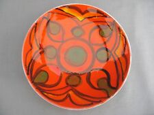 A Poole Pottery Delphis 8 inch plate - Pattern 3 - 1960/70s - Laura Wills?