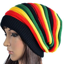 Colors Striped Hat Rasta Winter Warm Knitted Cap Woman Girl Color Stripe Hat HOT