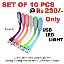 10 Pcs Flexible USB LED Light Lamp For Computer Reading Laptop PC Notebook
