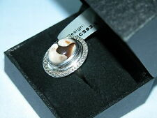 LOT 39 STUNNING PEANUT WOOD SOLID STERLING SILVER RING SIZE J