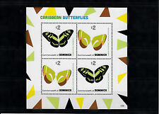 Dominica Commonwealth 2013 MNH Caribbean Butterflies II 4v M/S Insects Malachite