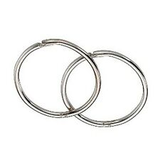 9ct White Gold 14mm Hinged Hoop Sleeper Earrings Made in UK