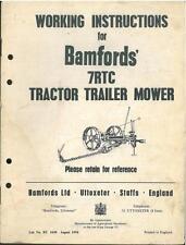 BAMFORD 7rtc Trattore Rimorchio MOWER operatori manuale
