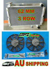 3 ROW TOYOTA LANDCRUISER 60 SERIES HJ60 HJ61 HJ62 ALUMINUM RADIATOR MANUAL+FAN