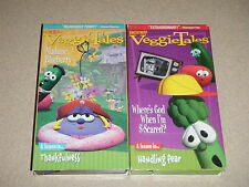 Veggie Tales 2 VHS Wheres God Scared Handling Fear Madame Blueberry Thankfulness