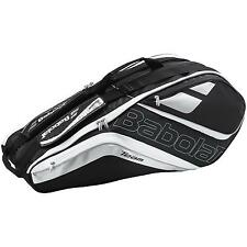 BABOLAT TEAM LINE 6 (SIX) RACKET TENNIS BAG  BLACK / SILVER , PADEL OR TRAVEL