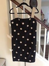 Akris Punto Black gold/brown polka dot dress Size 10