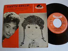 "LUCETTE RAILLAT: La mome aux boutons - 7"" EP 1958 French POLYDOR 20747 JM DEFAYE"