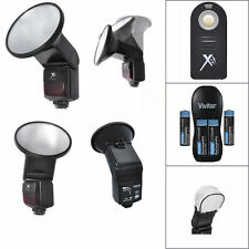 UNIVERSAL AUTO MANUAL SLAVE FLASH + WIRELESS IR REMOTE FOR CANON EOS REBEL DSLR
