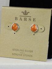 Barse Sterling Silver Orange Sponge Coral Stud Earrings MALTE03OSCS $34