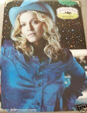 """MADONNA """"MUSIC"""" NEW ZEALAND GIANT PROMO POSTER - Dressed As A Satin Cowgirl"""