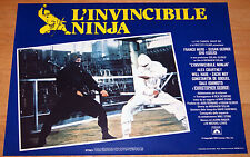 set 8 fotobuste originali L'INVINCIBILE NINJA Susan George Franco Nero 1981