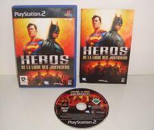 RARE JEUX SONY PLAYSTATION 2 PS2 HEROS DE LA LIGUE DES JUSTICIERS COMPLET