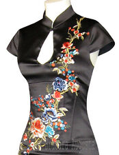 KAREN MILLEN RARE BLACK ORIENTAL SATIN FLORAL EMBROIDERED CORSET DRESS 12 BNWT