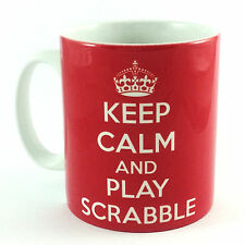 BRAND NEW KEEP CALM AND PLAY SCRABBLE GIFT MUG CUP COOL BRITANNIA RETRO CARRY ON