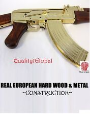 FULL SIZE REAL EURO WOOD METAL REPLICA GOLD AK-47 FULL STOCK MOVIE PROP GUN EKOL