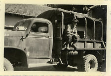 PHOTO ANCIENNE - VINTAGE SNAPSHOT - MILITAIRE CAMION - MILITARY TRUCK