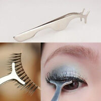 False Fake Eyelash Eye Lash Tweezer Cosmetic Makeup Clip Applicator Remover Tool