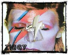 Solid Sterling Silver David Bowie Lightning Bolt Ziggy Stardust Ring