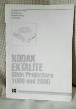 KODAK EKTALITE 1000 & 2000 INSTRUCTIONS MANUAL  (ORIGINAL) not in English  (B23)