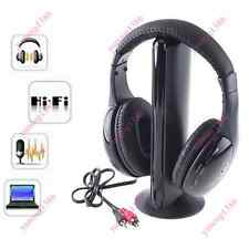 5 in 1 Wireless Wired Headphone Over-Ear Earphone Transmitter Mic For PC TV Show