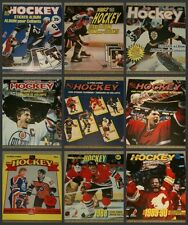 1981-1989 Master Set 9 Years of O-Pee-Chee NHL Hockey Sticker Complete Sets