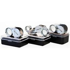 New 3pc Jewelers Eye Loupes Set 10x & 30x + Dual Magnifier Loupe
