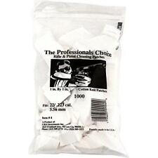 """Professional's Choice Gun Cleaning Patches (1000 Pack) Cotton Knit  - 1"""" New"""