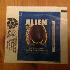 TOPPS ALIEN THE MOVIE WAXED GUM CARD WRAPPER FREE POST IN UK ORIGINAL 1979 ISSUE