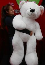"Life Size White Teddy Bear Over 52"" Tall 320325"