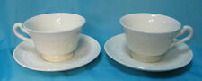 Wedgwood of Etruria & Barlaston Patrician Set of 2 Cups with Saucers