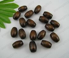 30pcs Coffee color wood beads Oval Spacer 6X10MM