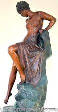 Große 17,5 kg schwere Jugendstil Skulptur signiert Bronzeskulptur Bronzefigur