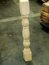 Traditional Style Maple Wood Turning Post