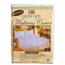 KING SIZE VINYL ZIPPERED MATTRESS COVER WATERPROOF ALLERGY & BED BUG PROTECTOR