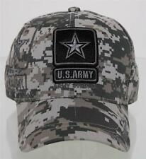 NEW! US ARMY STRONG GRAY LOGO SHADOW CAP HAT CAMO